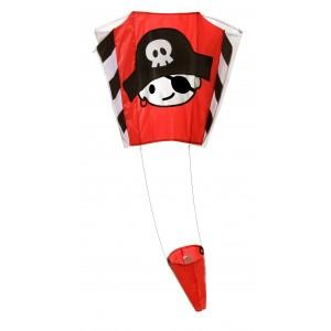 Wolkenstürmer Children's Pirate Jack Pocket Kite - 65cm x 45cm - Single Line - Includes Kite String and Handle