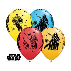"Qualatex   25 Classic 11"" Star Wars Episode VII Balloons"