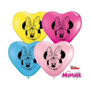 "Qualatex   6"" Minnie Mouse Heart Balloons"