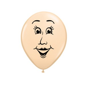 "Qualatex 5"" Blush Woman Face Balloons"